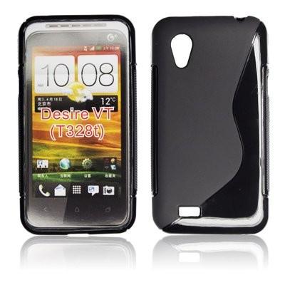 CUSTODIA GEL TPU SILICONE DOUBLE per HTC DESIRE VT T328T COLORE NERO