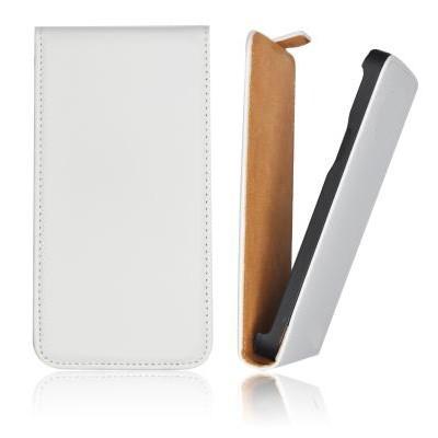 CUSTODIA VERTICALE FLIP SLIM PELLE SAMSUNG i9070 Galaxy Advance S COLORE BIANCO