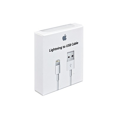 CAVO USB ORIGINALE APPLE MD818ZM LIGHTNING per IPHONE 6S, IPHONE 6S PLUS, IPAD PRO COLORE BIANCO BLISTER SEGUE COMPATIBILITA'..