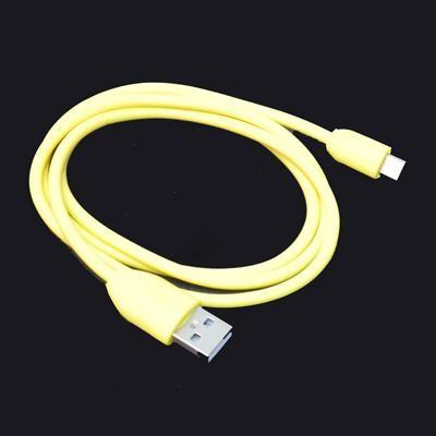 CAVO USB BLACKBERRY Bold Touch 9930, PlayBook ATTACCO MICRO USB LUNGHEZZA 1 MT COLORE GIALLO