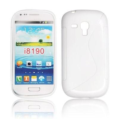 CUSTODIA GEL TPU SILICONE DOUBLE per SAMSUNG i8190 Galaxy S3 Mini, I8200 Galaxy S3 Mini VE COLORE BIANCO