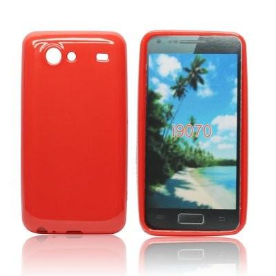 CUSTODIA GEL TPU SILICONE LUCIDA per SAMSUNG i9070 Galaxy Advance S COLORE ROSSO