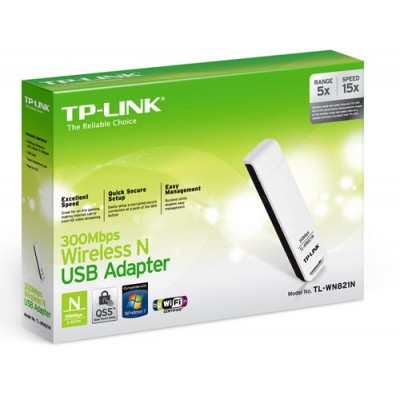 SCHEDA DI RETE WIRELESS N 300 Mbps USB COLORE BIANCO TL-WN821N TP-LINK