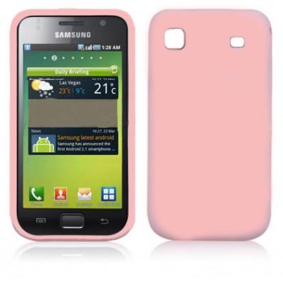 CUSTODIA GEL TPU SILICONE LUCIDA per SAMSUNG I9000 Galaxy S COLORE ROSA