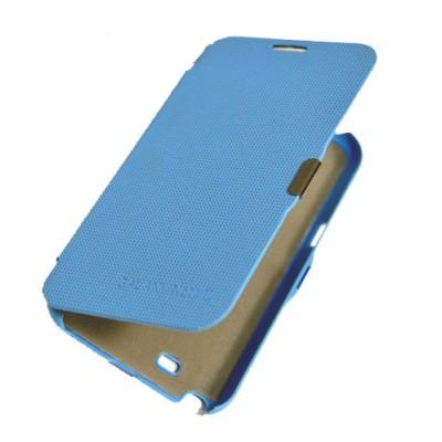 CUSTODIA ORIZZONTALE FLIP SAMSUNG N7100 NOTE2, N7105 COLORE BLU