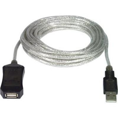 CAVO USB 2.0 PROLUNGA MASCHIO / FEMMINA AMPLIFICATA LUNGHEZZA 5 Mt. COLORE GRIGIO PUSB5M