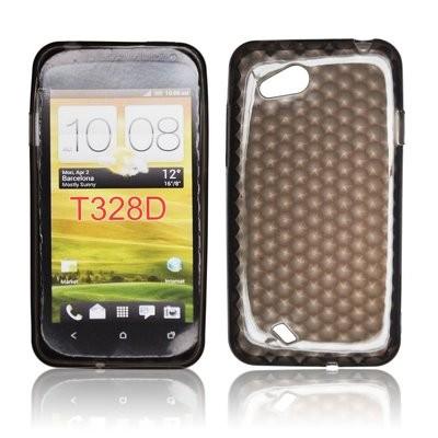 CUSTODIA GEL TPU SILICONE per HTC DESIRE VC T328D COLORE NERO