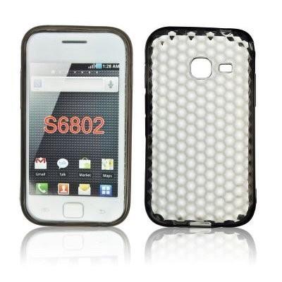 CUSTODIA GEL TPU SILICONE per SAMSUNG S6802 Galaxy Ace Duos COLORE NERO