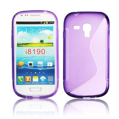 CUSTODIA GEL TPU SILICONE DOUBLE per SAMSUNG i8190 Galaxy S3 Mini, I8200 Galaxy S3 Mini VE COLORE VIOLA