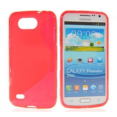 CUSTODIA GEL TPU SILICONE DOUBLE per SAMSUNG I9260 Galaxy Premier COLORE ROSSO
