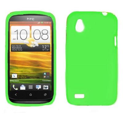 CUSTODIA GEL TPU SILICONE LUCIDA per HTC DESIRE X T328e COLORE VERDE