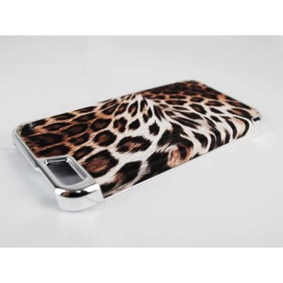 Custodia BACK Simil Pelle Cover Case Rigida MARRONE per iPhone 6