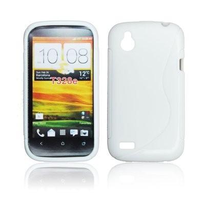 CUSTODIA GEL TPU SILICONE DOUBLE per HTC DESIRE X T328e COLORE BIANCO