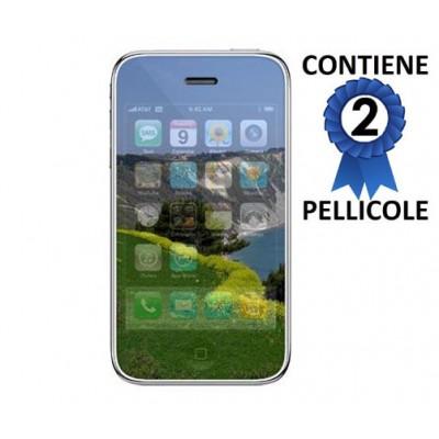 PELLICOLA PROTEGGI DISPLAY iPHONE 2G, 3G, 3Gs a SPECCHIO CONFEZIONE 2 PEZZI