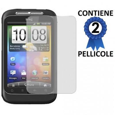PELLICOLA PROTEGGI DISPLAY HTC G13 WILDFIRE S CONFEZIONE 2 PEZZI