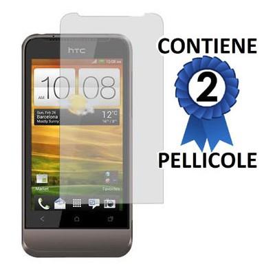 PELLICOLA PROTEGGI DISPLAY HTC ONE V CONFEZIONE 2 PEZZI