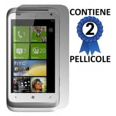 PELLICOLA PROTEGGI DISPLAY HTC RADAR CONFEZIONE 2 PEZZI