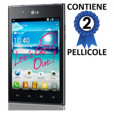 PELLICOLA PROTEGGI DISPLAY LG Optimus VU P895, F100S CONFEZIONE 2 PEZZI