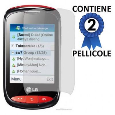 PELLICOLA PROTEGGI DISPLAY LG T310 CONFEZIONE 2 PEZZI