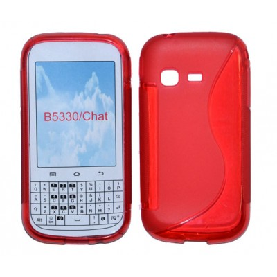 CUSTODIA GEL TPU SILICONE DOUBLE per SAMSUNG B5330 Galaxy Chat COLORE ROSSO