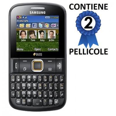 PELLICOLA PROTEGGI DISPLAY SAMSUNG E2222 duos CONFEZIONE 2 PEZZI