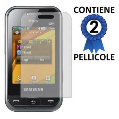 PELLICOLA PROTEGGI DISPLAY SAMSUNG E2652 Champ Duos CONFEZIONE 2 PEZZI
