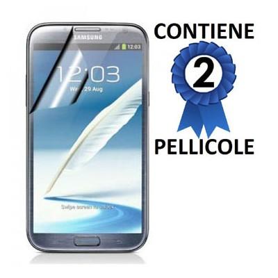 PELLICOLA PROTEGGI DISPLAY SAMSUNG N7100 GALAXY NOTE 2 CONFEZIONE 2 PEZZI