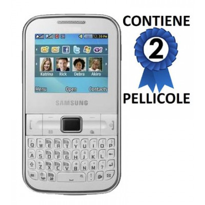 PELLICOLA PROTEGGI DISPLAY SAMSUNG S3350 CH@T335 CONFEZIONE 2 PEZZI