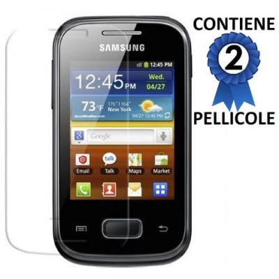 PELLICOLA PROTEGGI DISPLAY SAMSUNG S5300 Galaxy Pocket, S5301 Galaxy Pocket Plus CONFEZIONE 2 PEZZI