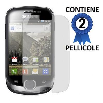 PELLICOLA PROTEGGI DISPLAY SAMSUNG Galaxy Fit S5670 CONFEZIONE 2 PEZZI
