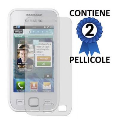 PELLICOLA PROTEGGI DISPLAY SAMSUNG S5750 Wave575 CONFEZIONE 2 PEZZI