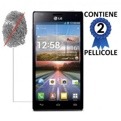 PELLICOLA PROTEGGI DISPLAY LG P880 Optimus 4X HD ANTI IMPRONTA CONFEZIONE 2 PEZZI