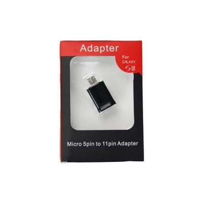 ADATTATORE MICRO USB 5 PIN A MICRO USB 11 PIN per SAMSUNG I9300 GALAXY S3, I9305 GALAXY S3 LTE 4G, N7100 NOTE2