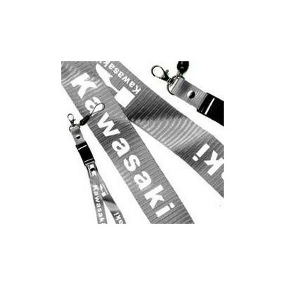 LACCIO PORTACELLULARE DA COLLO IN TESSUTO COLORE GRIGIO/SILVER CON SCRITTA KAWASAKI LARGHEZZA BANDA 20 MM