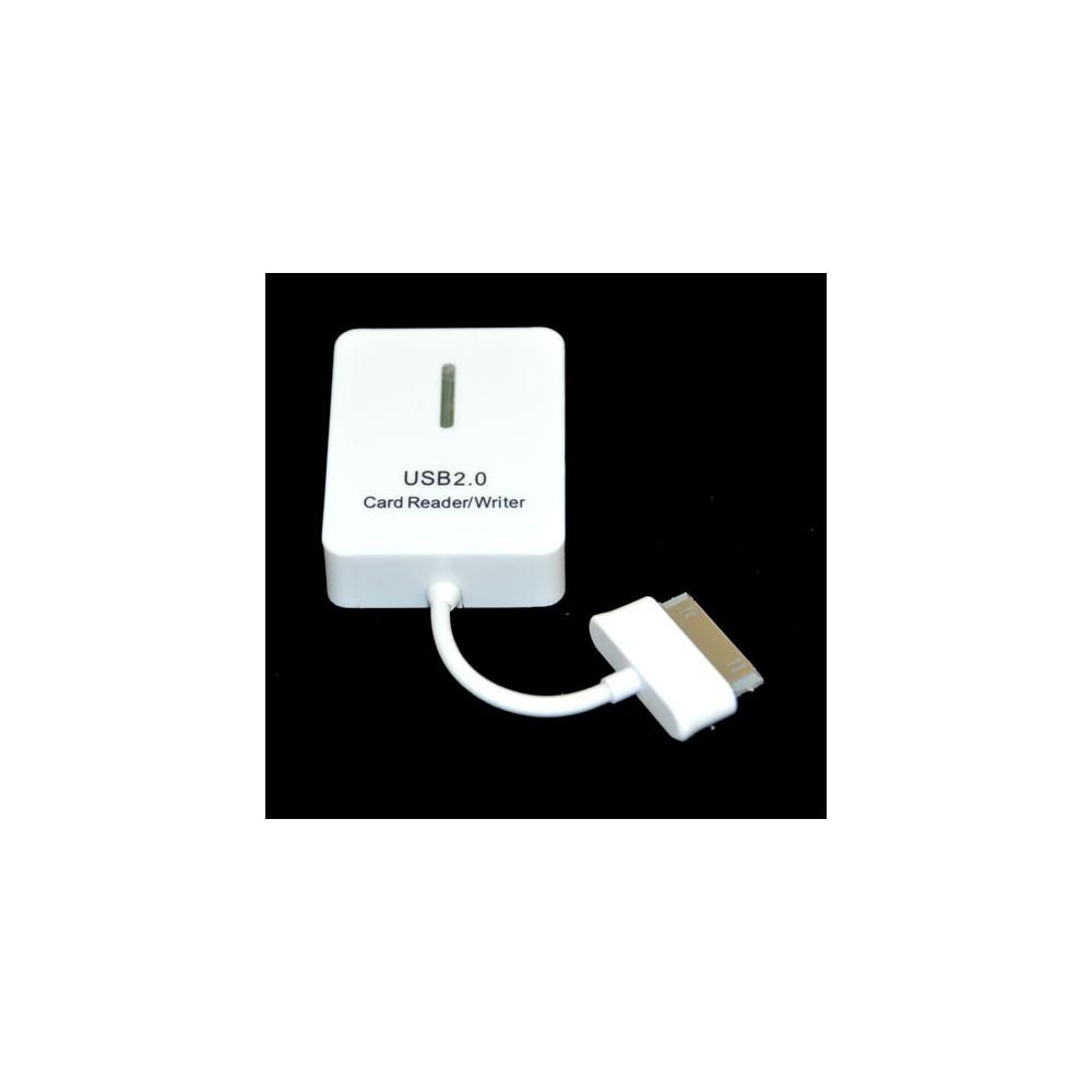 LETTORE DI MEMORIE CON CAVO per SAMSUNG N8000 GALAXY NOTE 10.1, N5100 GALAXY NOTE 8.0 COLORE BIANCO SEGUE COMPATIBILITA'..