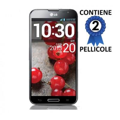 PELLICOLA PROTEGGI DISPLAY LG OPTIMUS G PRO E985, E980, E986, F240, L-04E CONFEZIONE 2 PEZZI