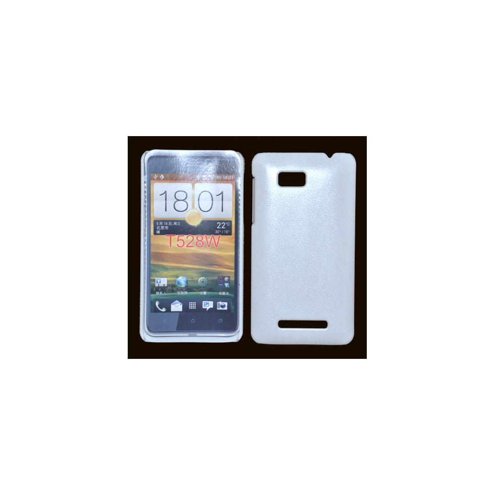 CUSTODIA BACK RIGIDA per HTC ONE SU 528W COLORE BIANCO PLASTIFICATO EFFETTO PELLE