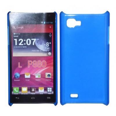 CUSTODIA BACK RIGIDA SLIM DA 0,35mm per LG P880 OPTIMUS 4X HD COLORE BLU
