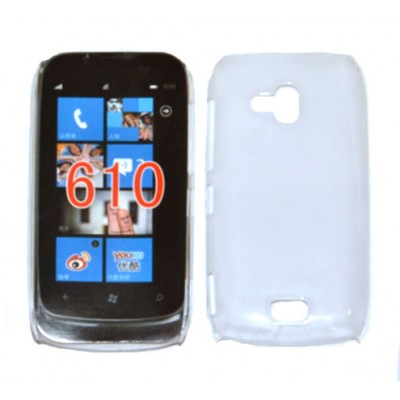 CUSTODIA BACK RIGIDA SLIM DA 0,35mm per NOKIA LUMIA 610 COLORE BIANCO