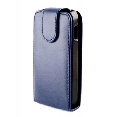CUSTODIA VERTICALE FLIP PELLE per HTC WINDOWS PHONE 8X C620E COLORE BLU