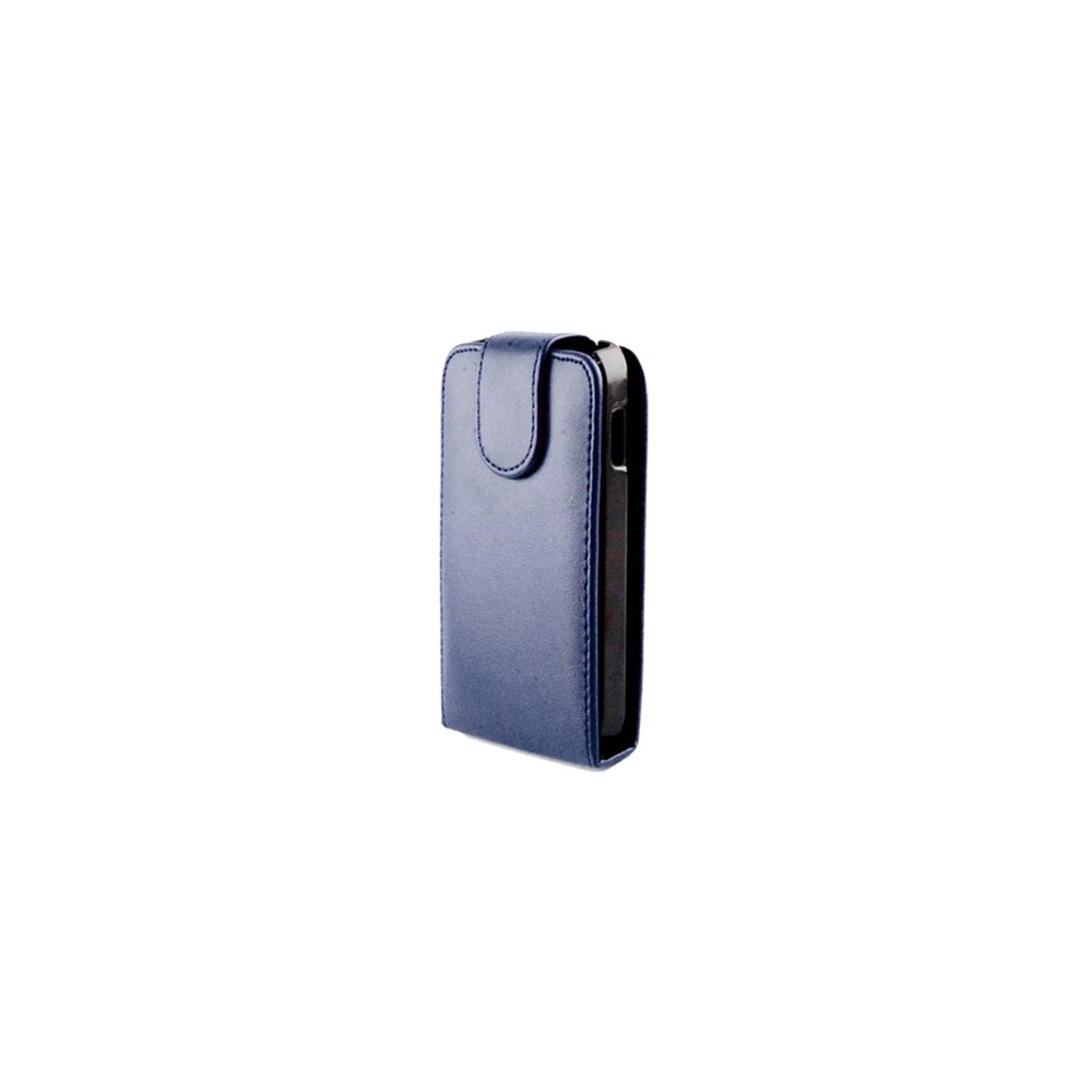 CUSTODIA VERTICALE FLIP PELLE per HTC ONE, M7 COLORE BLU