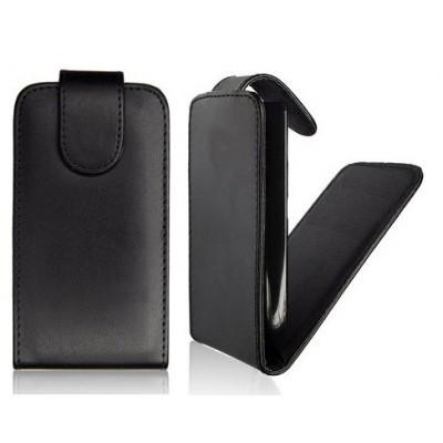 CUSTODIA VERTICALE FLIP PELLE per HTC BUTTERFLY X920E DELUXE COLORE NERO