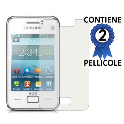 PELLICOLA PROTEGGI DISPLAY SAMSUNG S5222R REX 80 CONFEZIONE 2 PEZZI