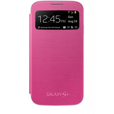 CUSTODIA ORIGINALE SAMSUNG EF-CI950BPEGWW - S VIEW COVER per I9500 GALAXY S4, I9505 COLORE ROSA BLISTER
