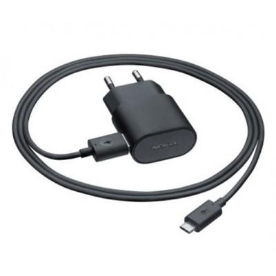 TRAVEL CASA USB + CAVO USB ATTACCO MICRO USB ORIGINALE NOKIA AC-50E per LUMIA 920, LUMIA 510 BULK SEGUE COMPATIBILITA'..