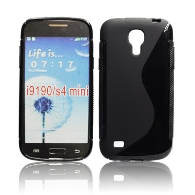 CUSTODIA GEL TPU SILICONE DOUBLE per SAMSUNG I9190 GALAXY S4 MINI, I9192, I9195 COLORE NERO