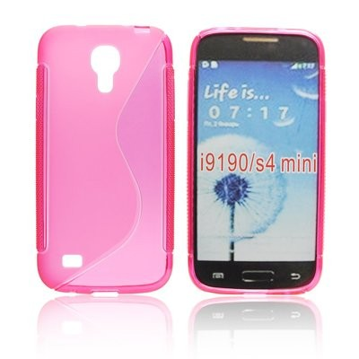 CUSTODIA GEL TPU SILICONE DOUBLE per SAMSUNG I9190 GALAXY S4 MINI, I9192, I9195 COLORE ROSA