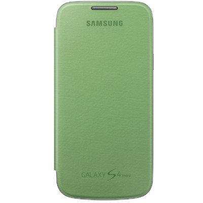 CUSTODIA FLIP COVER ORIGINALE SAMSUNG COLORE VERDE per I9190 GALAXY S4 MINI, I9192, I9195 EF-FI919BGEGWW BLISTER