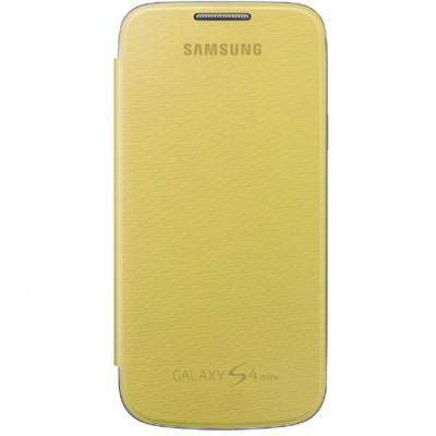 CUSTODIA FLIP COVER ORIGINALE SAMSUNG COLORE GIALLO per I9190 GALAXY S4 MINI, I9192, I9195 EF-FI919BYEGWW BLISTER