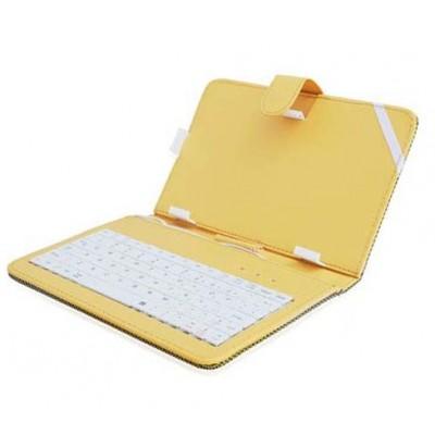 CUSTODIA UNIVERSALE CON TASTIERA per TABLET DA 7' ATTACCO MICRO USB E MINI USB GIALLO - ATTENZIONE: NON COMPATIBILE CON DISPOSIT